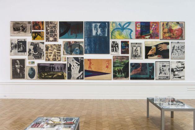 Mimmo Rotella Manifesto. Exhibition view at Galleria Nazionale d'arte Moderna e Contemporanea, Roma 2018. Photo Giorgio Benni. Insieme-manifesto dei Riporti fotografici (1963-80) e Artypos (1966-74)