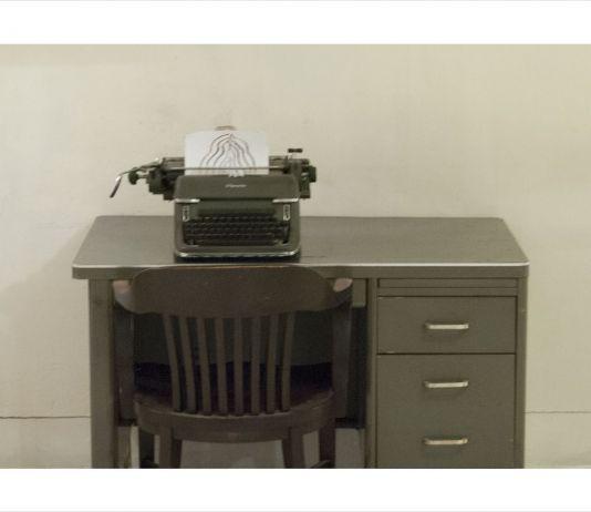Manlio Capaldi, Seachange, the memory of the present (Manlio Capaldi drawing and William Burroughs typewriter)