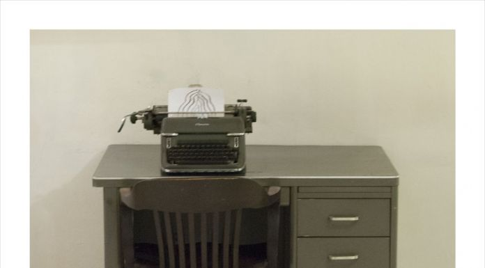 Manlio Capaldi, Seachange, the memory of the present (Manlio Capaldi drawing and William Burroughs typewriter)
