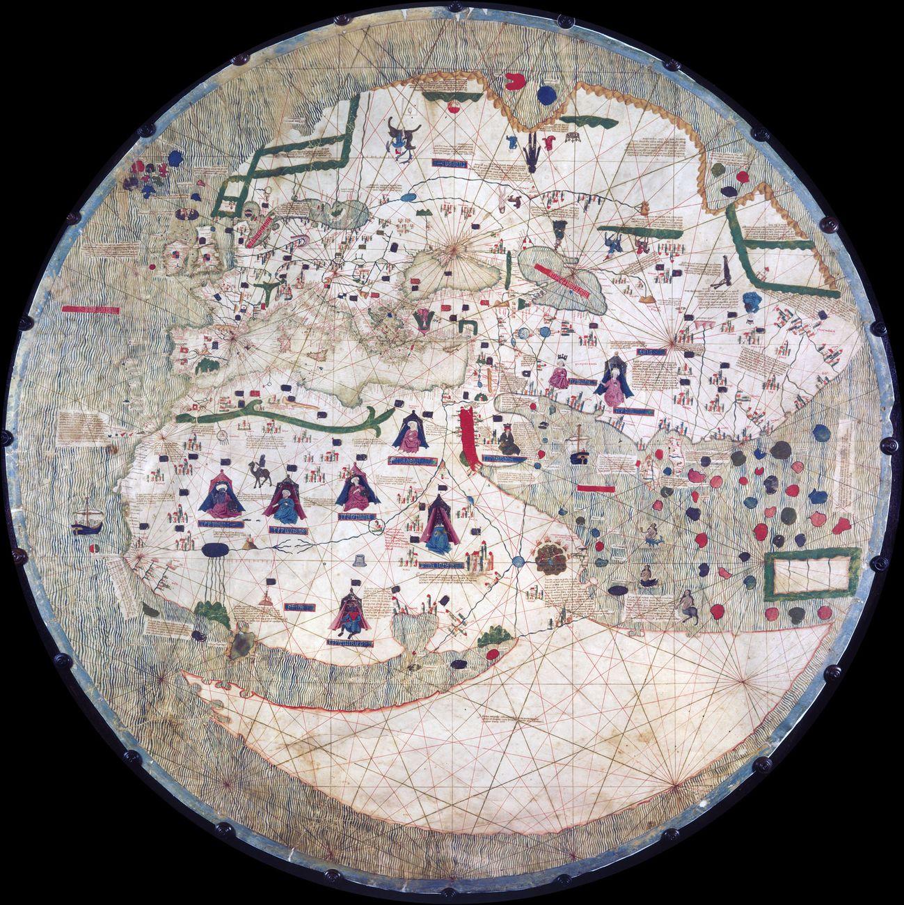 Mappamondo Catalano Estense, 1450-1560 ca. Modena, Biblioteca Estense Universitaria