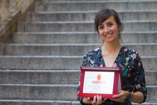 Marie Laure Cruschi con il Premio Andersen 2018