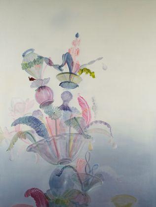 Marta Sforni, Jongleur, 2018, olio su tela,135 x 102 cm
