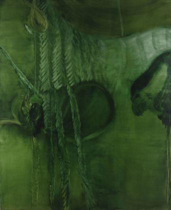 Marta Sforni, Mirror Green #20, 2015, olio su tela, 135 x 110 cm
