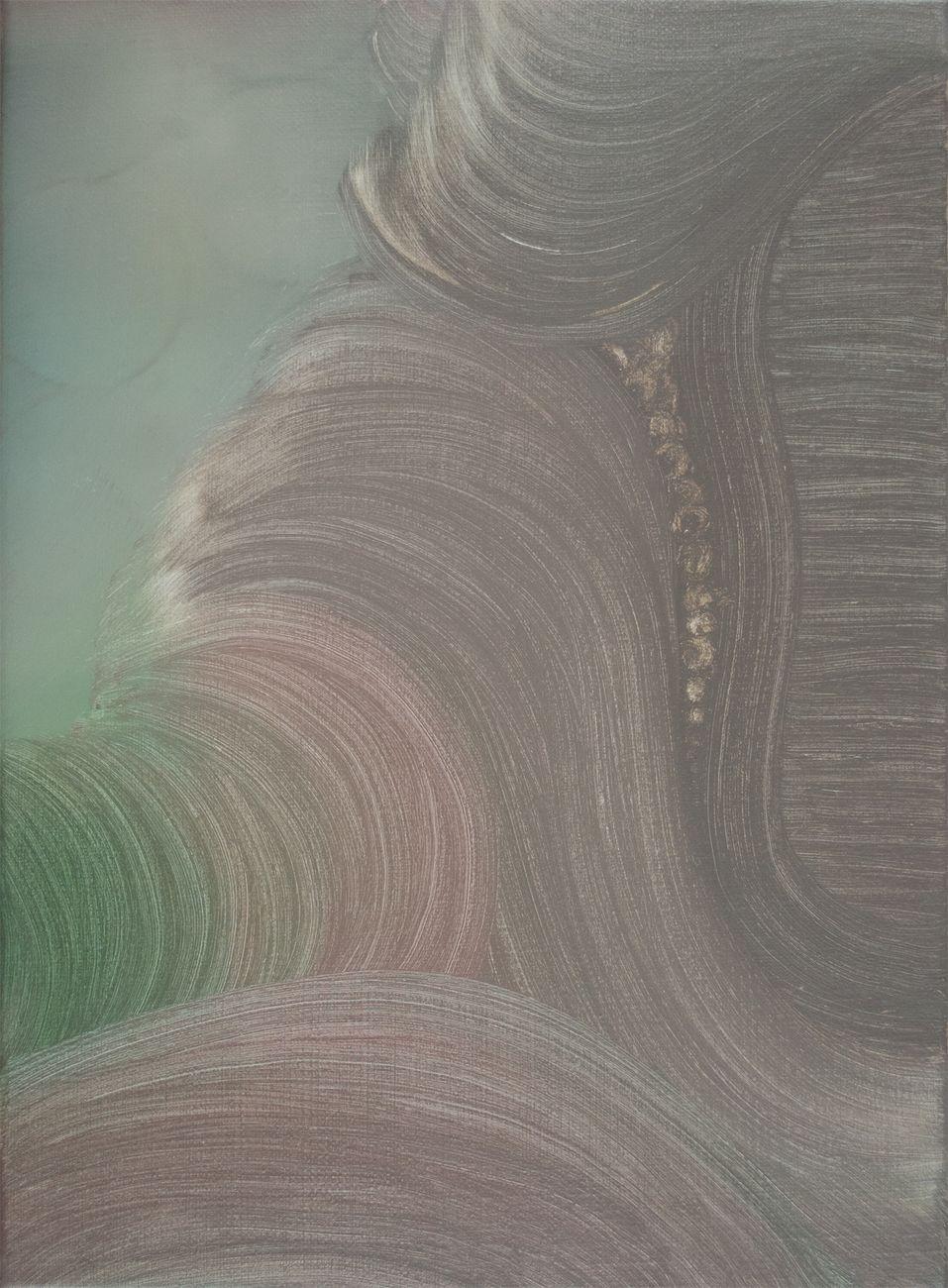Marta Sforni, Mirror Muffato, 2016, olio su tela, 37 x 27 cm