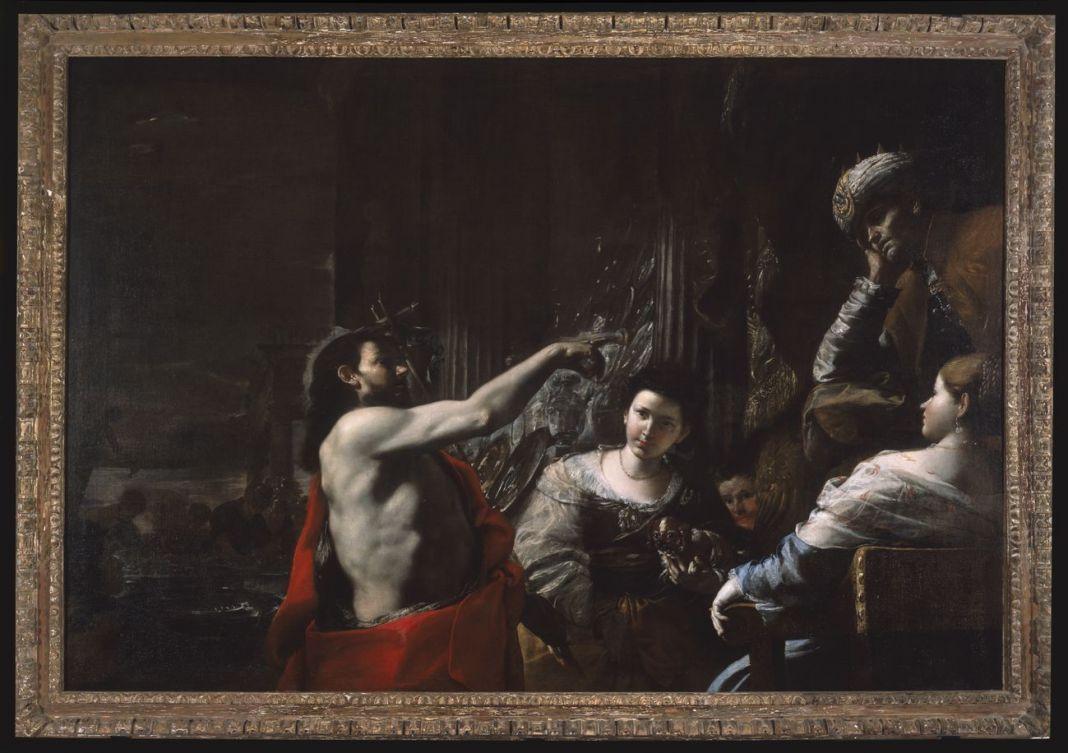Mattia Preti, San Giovanni Battista predica davanti a Erode, seconda metà del sesto decennio del XVII secolo. Collezione Shanks
