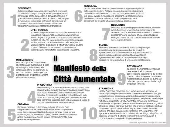 Maurizio Carta, Il Manifesto della Città Aumentata. 10 punti per rigenerare, innovare e sviluppare le città del diverso presente, 2018