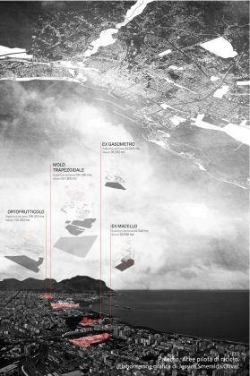 Maurizio Carta con Jessica Smeralda Oliva, Mappa concettuale delle aree pilota per la rigenerazione urbana elaborata nell'ambito del Piano Strategico Palermo Metropoli 2025, 2015