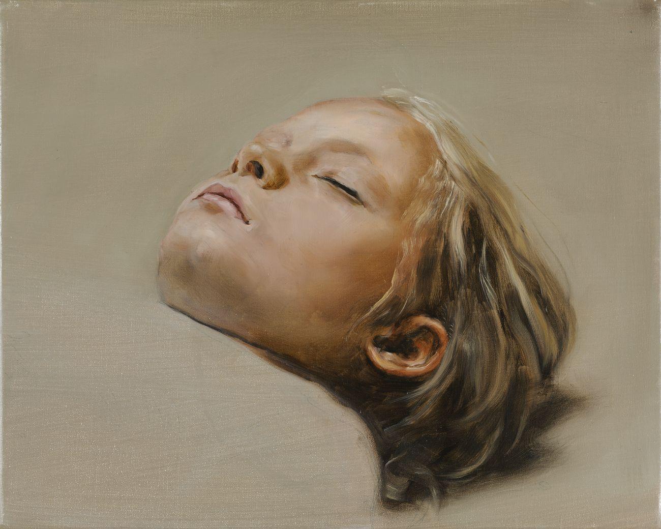 Michaël Borremans, Sleeper, 2007-08. Courtesy Zeno X Gallery, Anversa. Photo Peter Cox