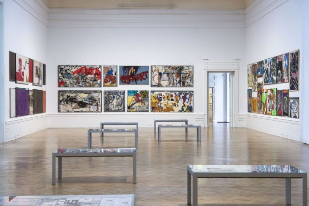 Mimmo Rotella Manifesto. Exhibition view at Galleria Nazionale d'arte Moderna e Contemporanea, Roma 2018. Photo Giorgio Benni