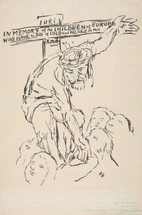 Oskar Kokoschka, Cristo porge aiuto ai bambini affamati, 1945. Museum der Moderne, Salisburgo © Fondation Oskar Kokoschka – Bildrecht, Vienna, 2018. Photo Hubert Auer. Courtesy Museum der Moderne Salzburg