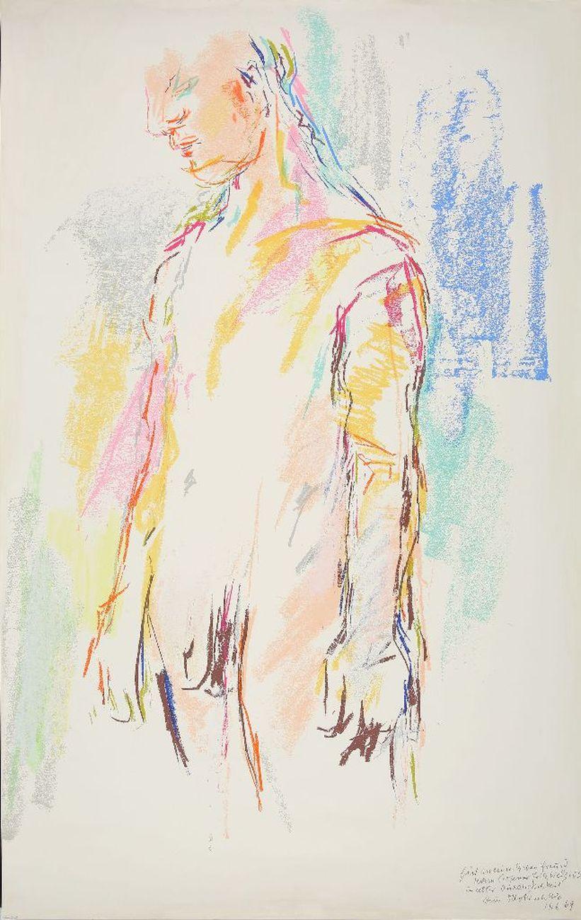 Oskar Kokoschka, Kouros I, 1968. Museum der Moderne, Salisburgo © Fondation Oskar Kokoschka – Bildrecht, Vienna, 2018. Photo Hubert Auer. Courtesy Museum der Moderne Salzburg