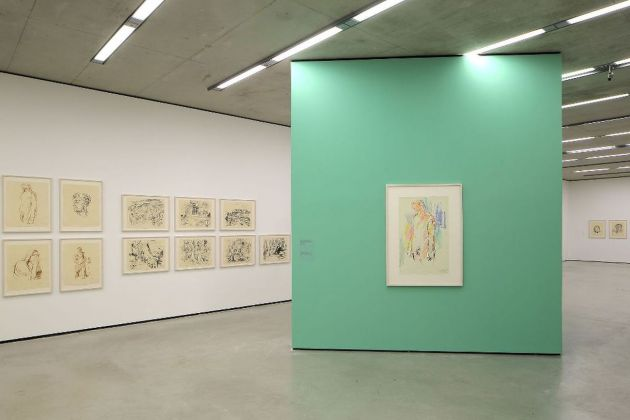 Oskar Kokoschka. The Printed OEuvre in the Context of Its Time. Exhibition view at Museum der Moderne, Salisburgo 2018 © Museum der Moderne Salzburg. Photo Rainer Iglar