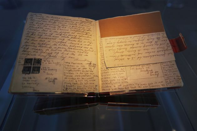 Pages of the original first red chequered diary of Anne Frank © Anne Frank House. Photographer Cris Toala Olivares