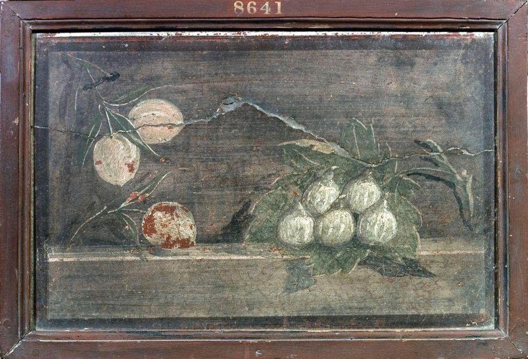 Pesche e fichi. Villa di Cicerone, Pompei, affresco. Courtesy MANN