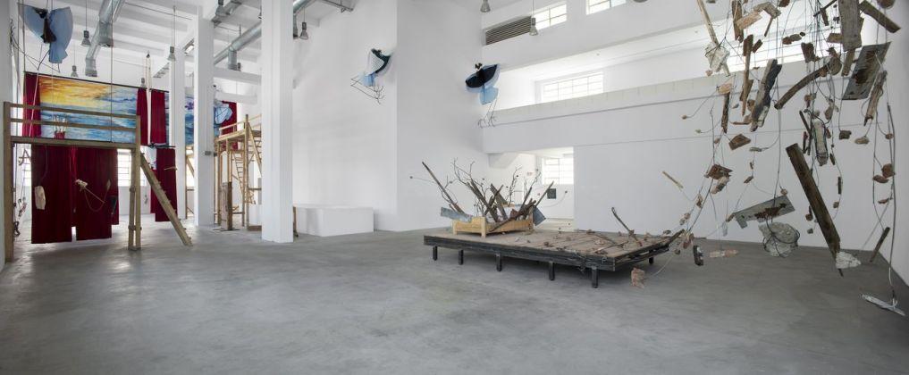 Petrit Halilaj. Shkrepëtima. Exhibition view at Fondazione Merz, Torino 2018. Photo Renato Ghiazza
