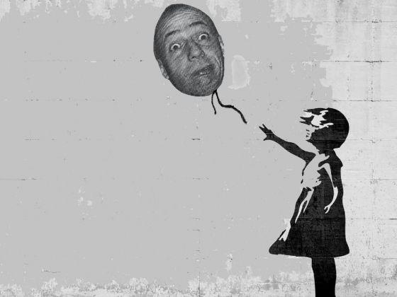Pino Boresta e il palloncino di Banksy, 2018