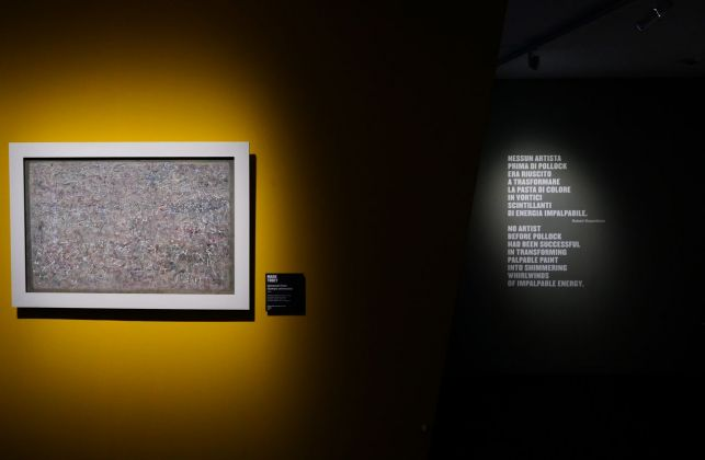 Pollock e la Scuola di New York. Exhibition view at Complesso del Vittoriano, Roma 2018. Photo Gianfranco Fortuna