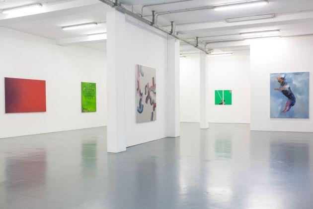 Reazione a catena. Differenti vie della pittura #2. Exhibition view at Galleria Giovanni Bonelli, Milano 2018