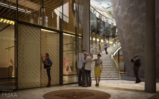Render del progetto. Immagini a cura di MdAA architetti associati