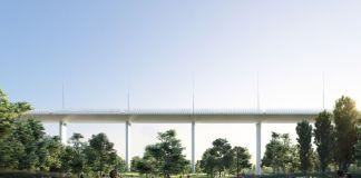 Rendering del progetto di Renzo Piano per il Ponte Polcevera a Genova, credit Salini Impregilo