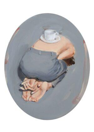 Romina Bassu, Doll's house, 2018, acrilico su tela, diam. cm 50x40. Collezione privata. Courtesy Studio SALES di Norberto Ruggeri, Roma.