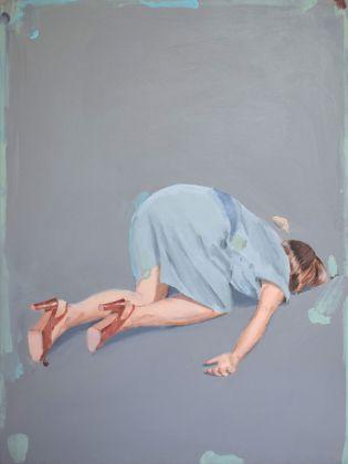 Romina Bassu, Effetto collaterale, 2018, acrilico su tela, cm 80x60. Collezione privata. Courtesy Studio SALES di Norberto Ruggeri, Roma.