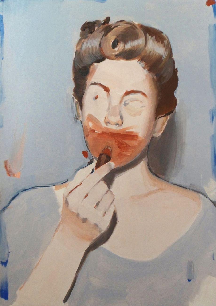 Romina Bassu, Esercizi di amnesia, 2015, acrilico su tela, 70x50 cm. Collezione privata. Courtesy l'artista.