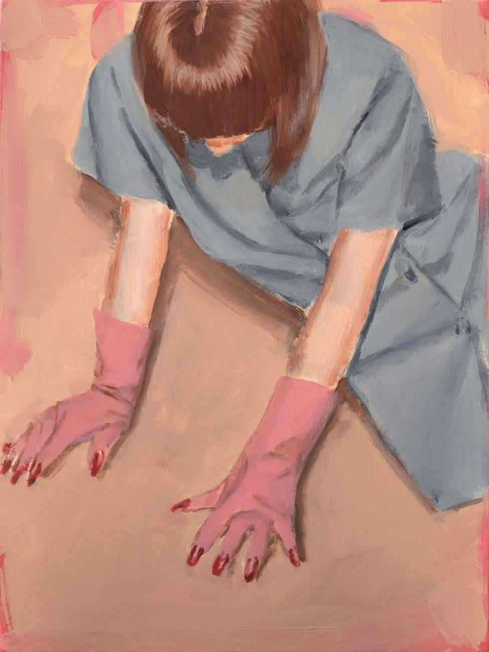 Romina Bassu, She wolf, 2018, acrilico su tela, cm 40x30. Collezione privata. Courtesy Studio SALES di Norberto Ruggeri, Roma.