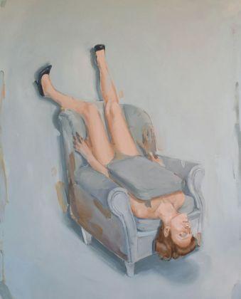 Romina Bassu, Wallflower, 2018, acrilico su tela, cm 170x140. Collezione privata. Courtesy Studio SALES di Norberto Ruggeri, Roma.