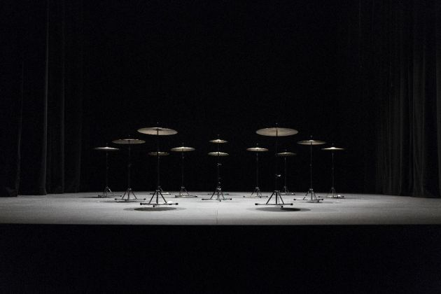 Ryoji Ikeda + Eklekto, Music for percussion. Photo Raphaelle Müller