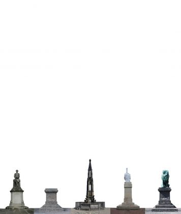 Søren Lose, Monuments #12 (fuck history), 2012. Courtesy Galleria Riccardo Crespi & the artist