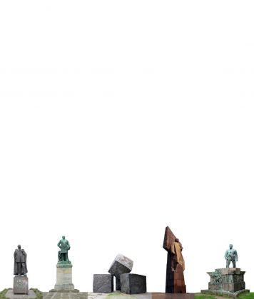 Søren Lose, Monuments #13 (square bearded men), 2012. Courtesy Galleria Riccardo Crespi & the artist