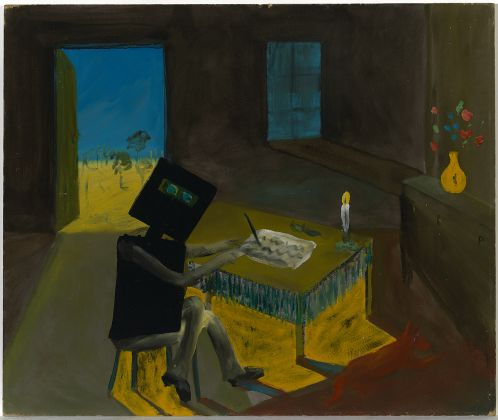 Sidney Nolan, Ned Kelly writing his will, 1946 47. National Gallery of Australia, Canberra