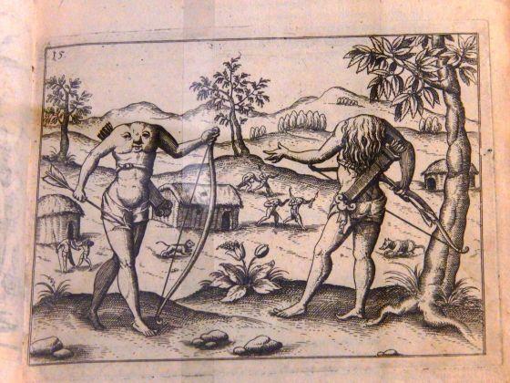 Ulrich Schmidel, Storia vera delle navigazioni, Norimberga, 1599. Modena, Biblioteca Estense Universitaria