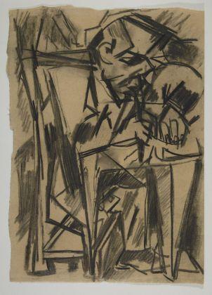 Emilio Vedova, Figura, 1943, foto Postini