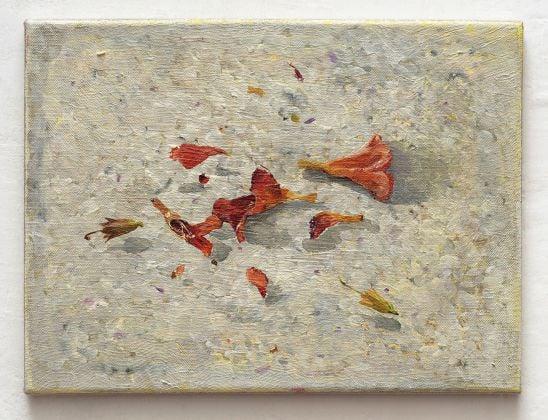 Vera Portatadino, Le cose che restano, 2018, oil on linen, 30 x 40 cm