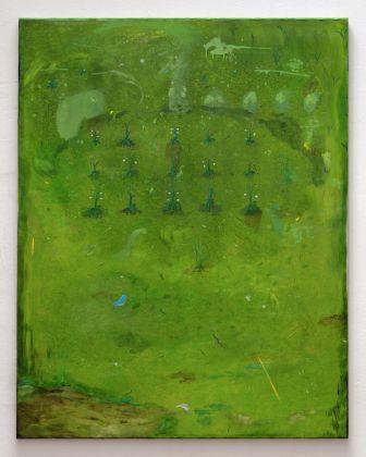 Vera Portatadino, Noli Me Tangere, 2018, oil on linen, 150 x 130 cm