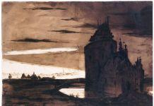 Victor Hugo, Vieux burg dans l'orage, 1837 © Maisons de Victor Hugo – Roger Viollet