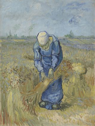 Vincent van Gogh, Peasant Woman Binding Sheaves (after Millet), September 1889, Van Gogh Museum, Amsterdam (Vincent van Gogh Foundation)