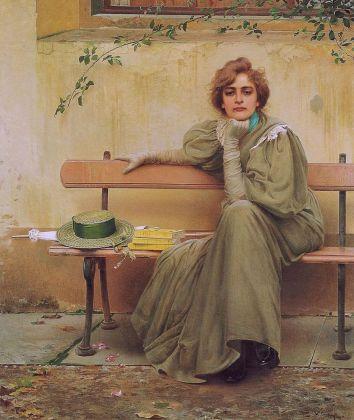 Vittorio Corcos, Sogni, 1896. Galleria Nazionale d'Arte Moderna, Roma