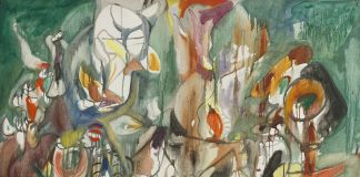 One Year the Milkweed, 1944, oil on canvas, National Gallery of Art, Washington, D.C. Ailsa Mellon Bruce Fund © 2018 The Estate of Arshile Gorky Artists Rights Society (ARS), Ne 1