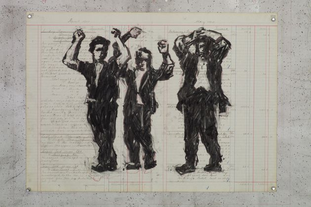 DAL MAR WAR IS OVER William Kentridge _Execution of Partisan, 2015. A Ravenna. Courtesy Galleria Lia Rumma