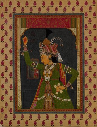 Woman of the court dressed as Radha, The Metropolitan Museum of Art, Gift of Evelyn Kranes Kossak, 2017