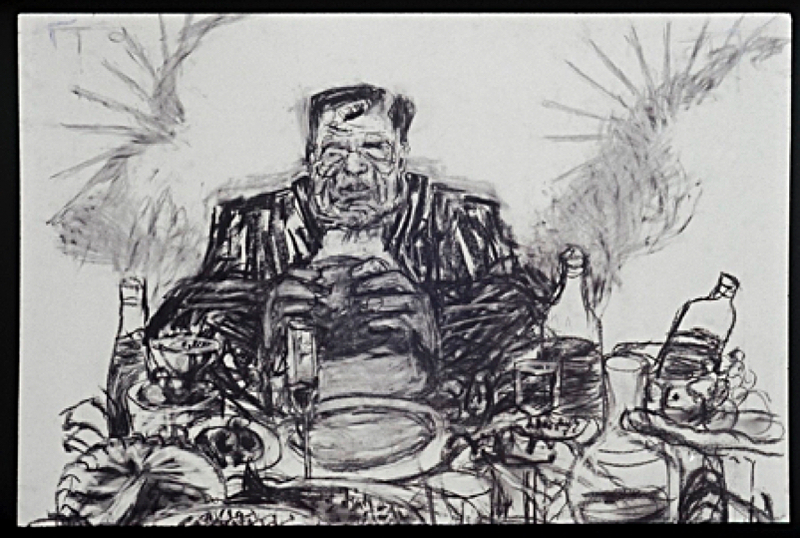 William Kentridge, soho eating (drawing from johannesburg, 2nd greatest city after paris), 1989, fonte artstack