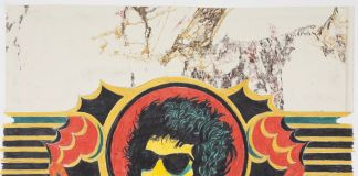 "Archizoom Associati, Decoro ""Dylan"", 1967, matita e pastello su carta applicata su cartoncino"