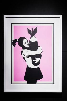 Banksy, Bomb Love. Courtesy Sold Out