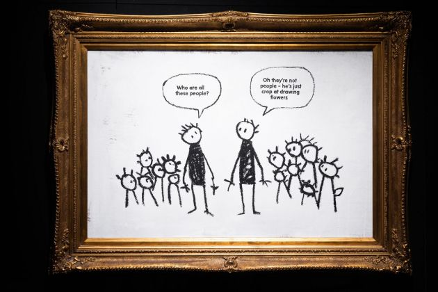 Banksy, Crap at Drawing Flowers. Courtesy Sold Out