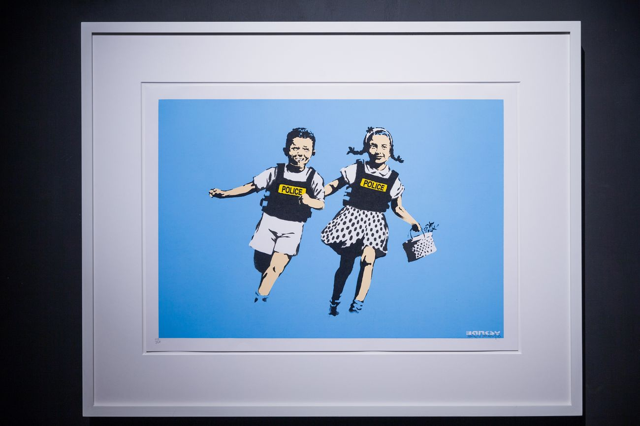 Banksy, Police Kids. Courtesy Sold Out
