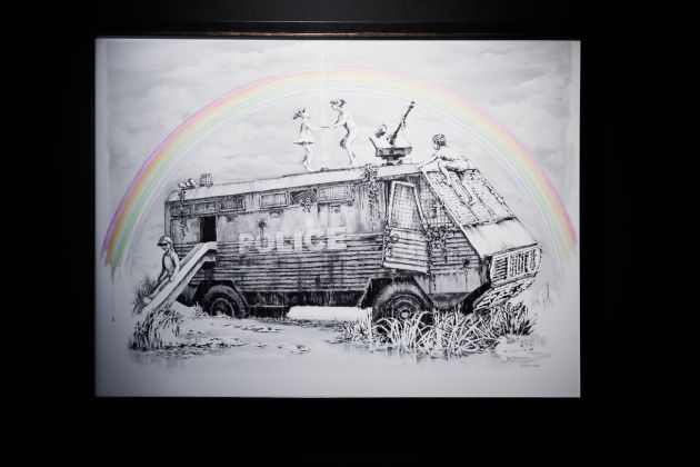 Banksy, Police Riot Truck. Courtesy Sold Out