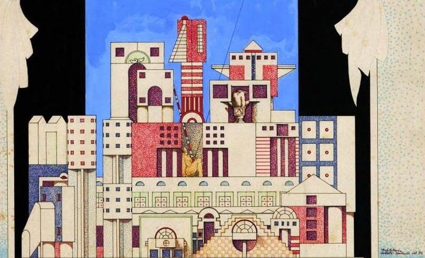 Brunetto De Batté, estratti da cartella disegni anni '70, dettaglio